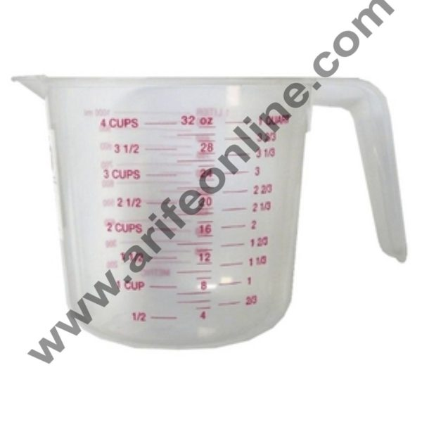 Cake Decor Plastic Measuring Jar 1Ltr