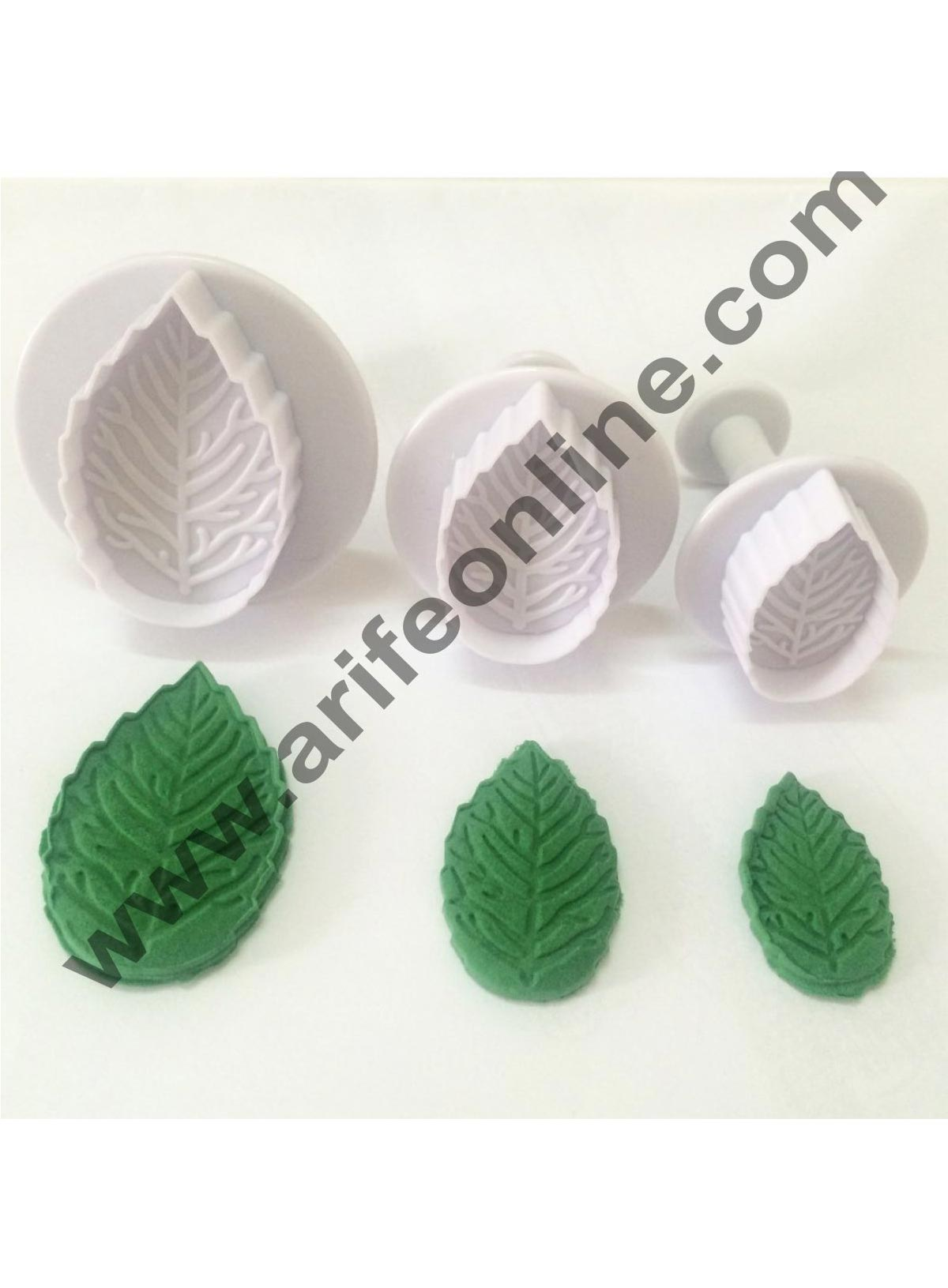 3-Piece Butterfly Fondant Cake Cookie Plunger Cutter Shape Set           White