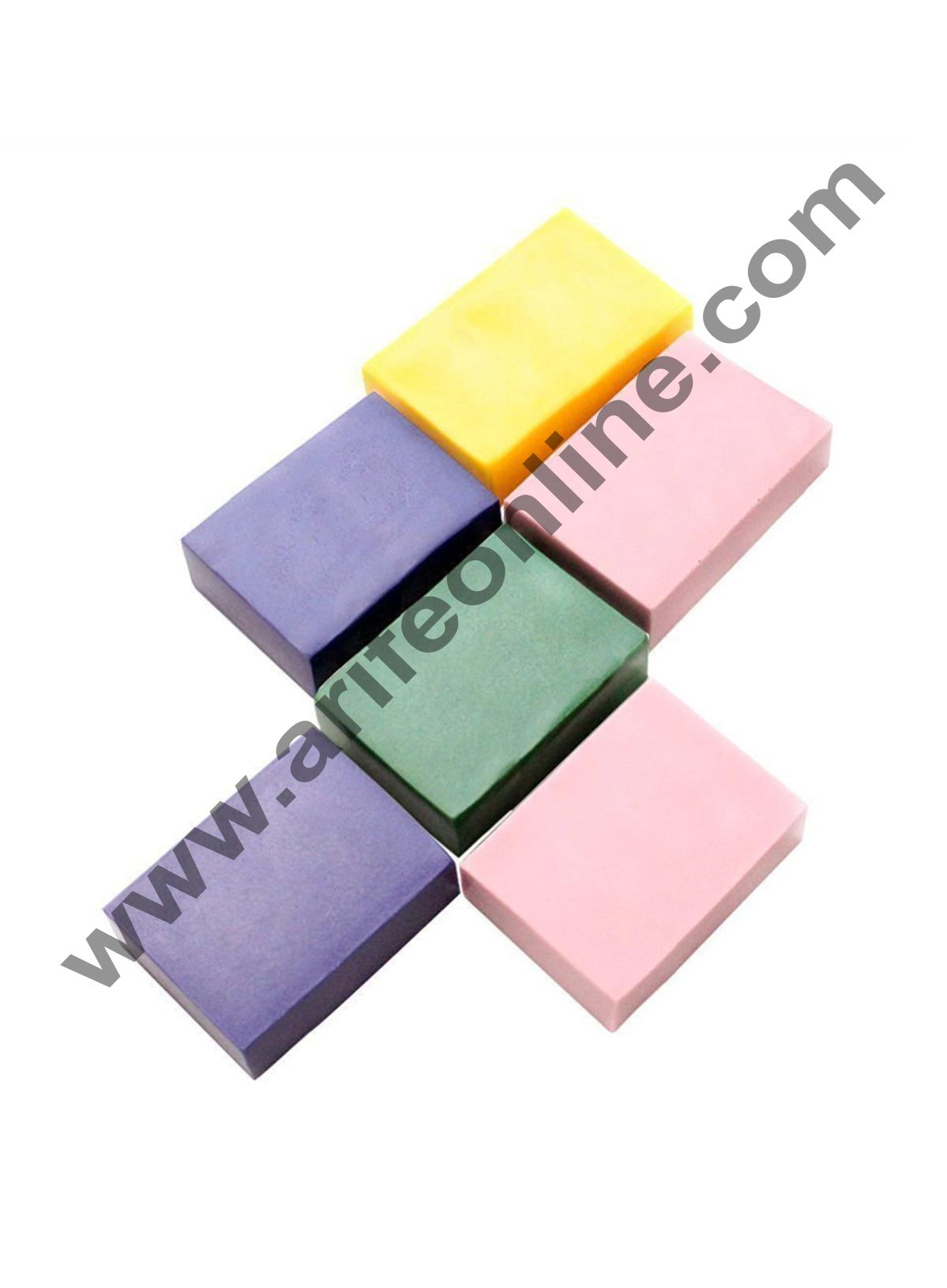 Cake Decor 1PC 6 Handmade Rectangle Silicone Soap Mold Chocolate Cookies Mould Cake Decorating Fondant Molds Pink Color