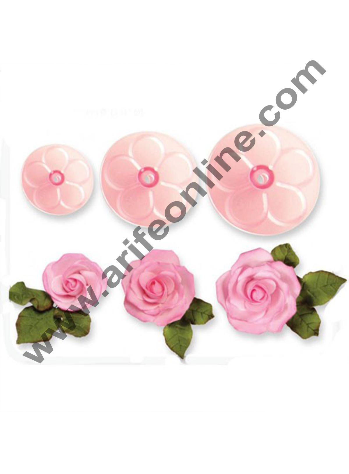 Cake Decor 6 Piece Fondant Roses Flower Mold Cake Decorating Bake Mold Cutter Tool