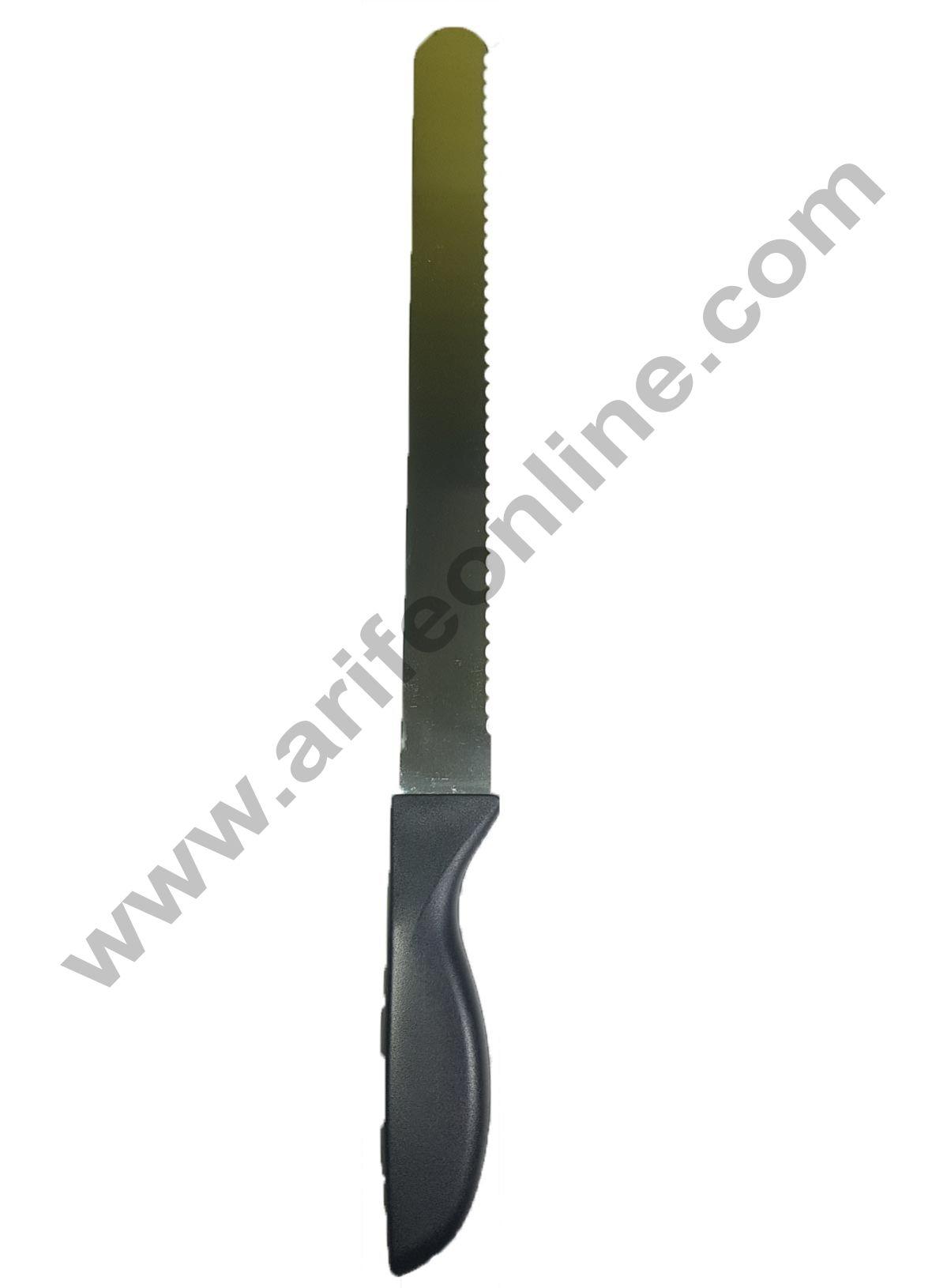 Cake Decor Straight Spatula Sawtooth Shape Knife,Combo Cake Pallate Knife-10inch/1pieces