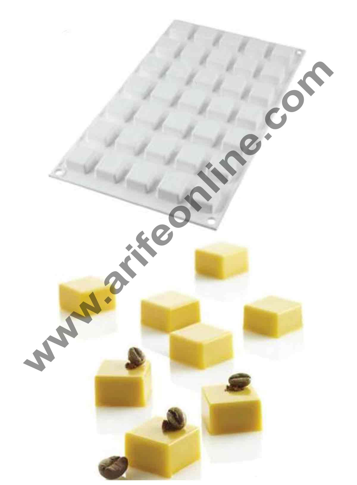 Cake Decor Silicon Micro Square Design Cake Mould Mousse Cake Mould Silicon Moulds