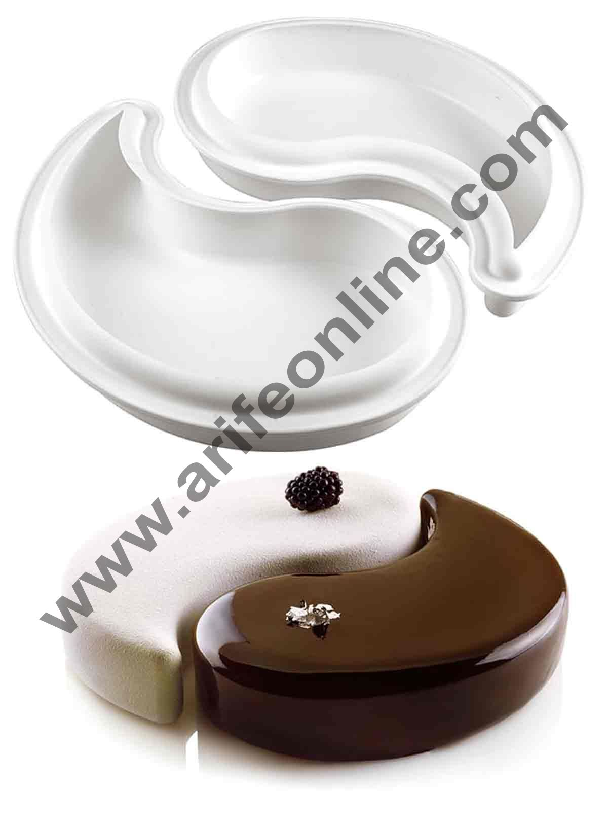 Cake Decor Silicon Yin Yang Design Cake Mould Mousse Cake Mould Silicon Moulds
