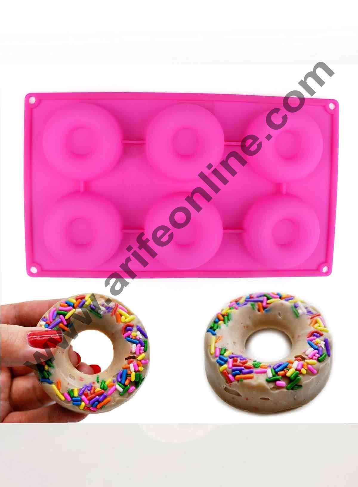 Cake Decor Silicon 6 in 1 Savarin Donut Design Cake Mould Mousse Cake Mould Silicon Moulds