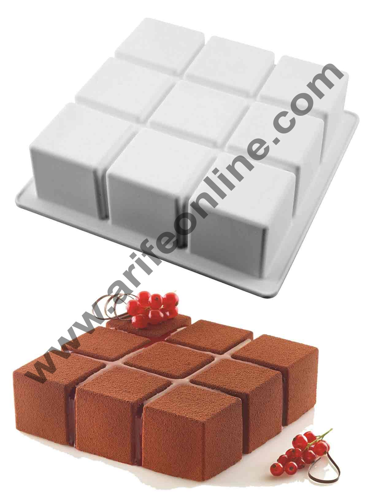 Cake Decor Silicon Cubik Design Cake Mould Mousse Cake Mould Silicon Moulds