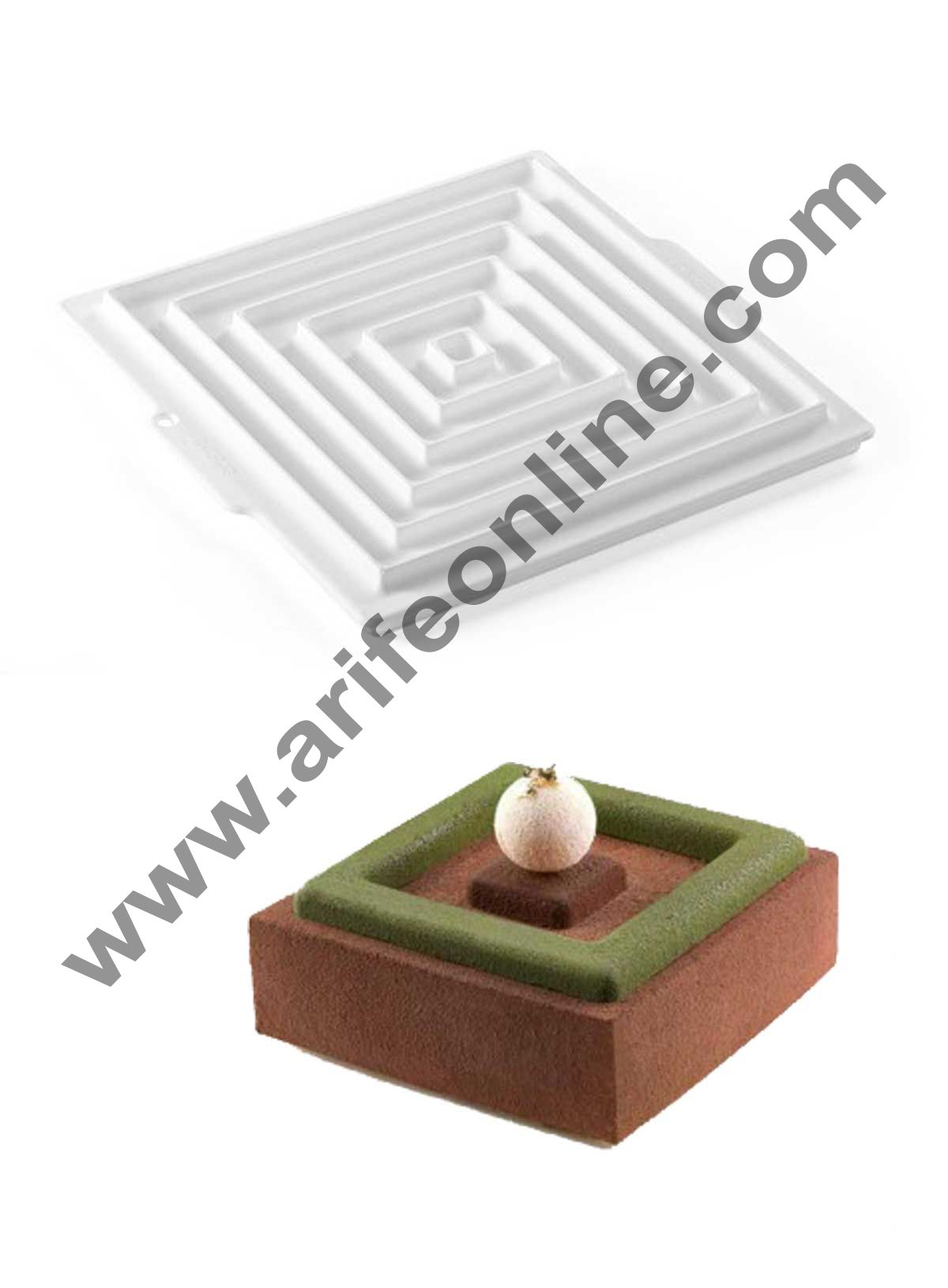 Cake Decor Silicon Double Square Round Insert Decor Design Cake Mould Mousse Cake Mould Silicon Moulds