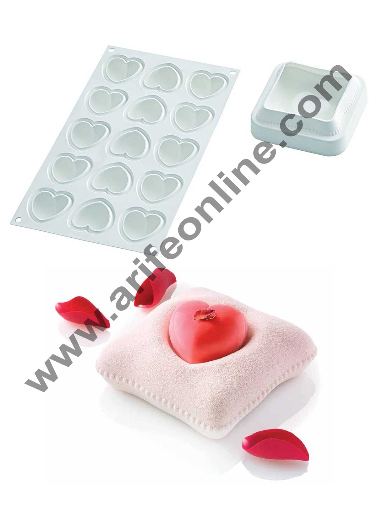 Cake Decor Silicon TI Voglio Bene Design Cake Mould Mousse Cake Mould Silicon Moulds