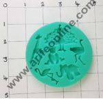 Cake Decor Silicon Animals Shape Fondant Clay Marzipan Cake Decoration Mould