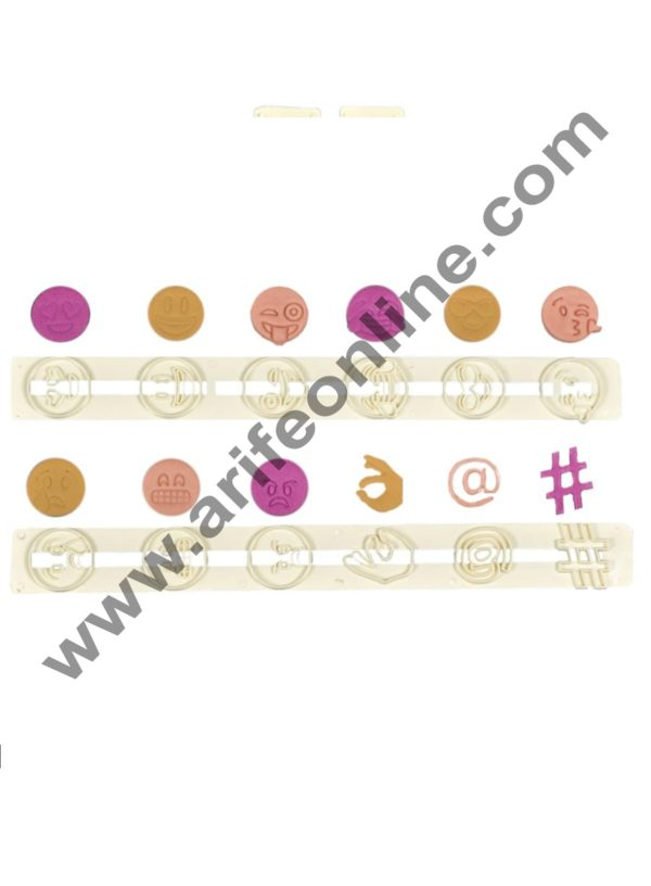Cake Decor Cutter Set -Smiley Face Expression Icons 3