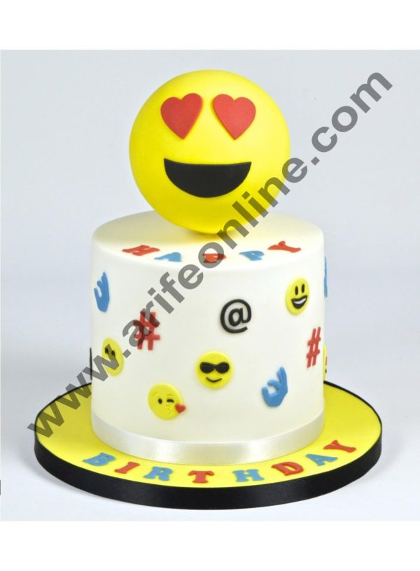 Cake Decor Cutter Set -Smiley Face Expression Icons 5