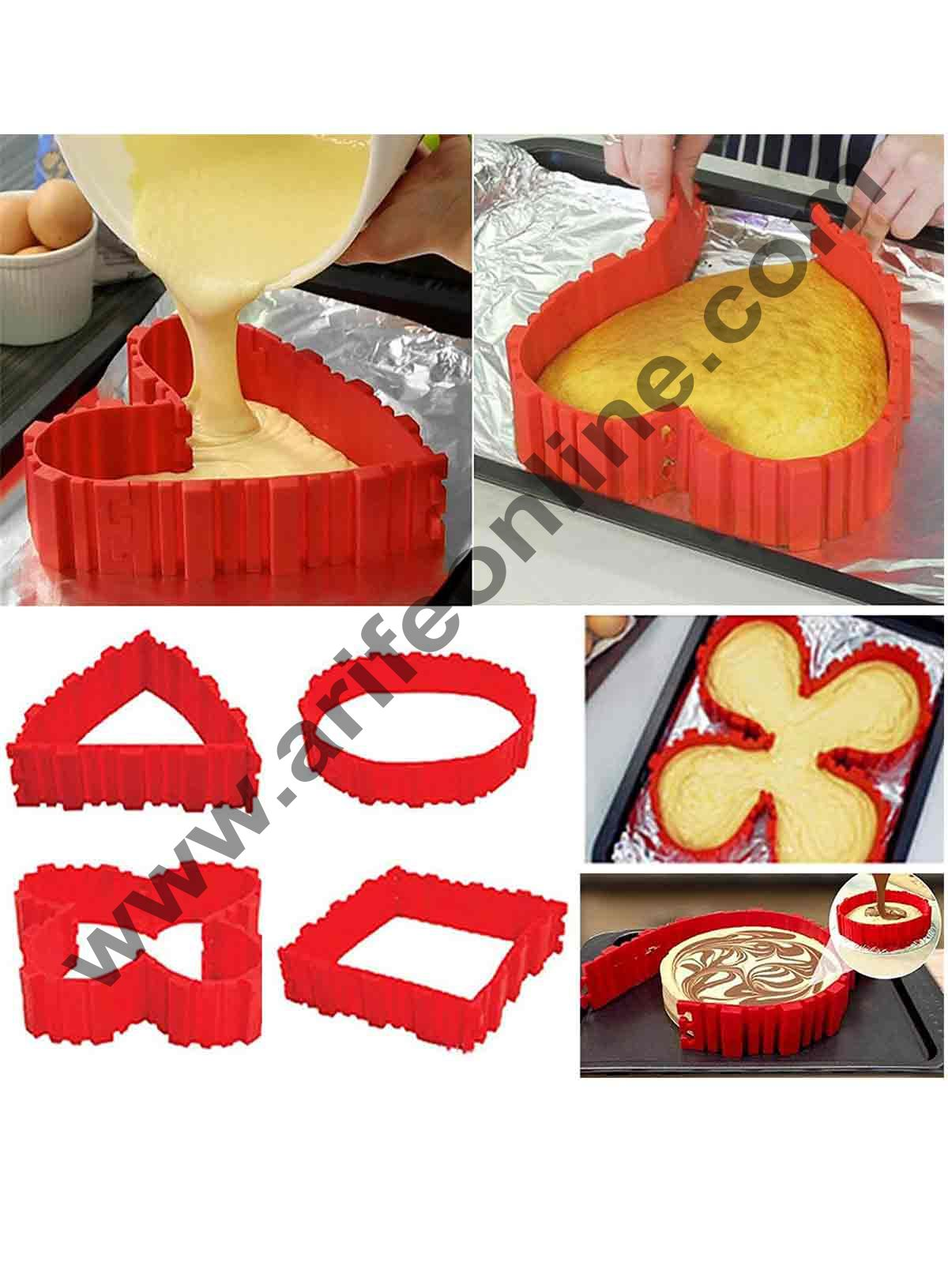 Cake Decor 4 Pcs Magic Bake Snake Silicone Nonstick Baking Snake Molds Diy Cakes In Any Shape