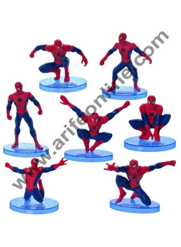Cake Decor Ultimate Spider man CAKE TOPPER Superhero 7 Figure Set Birthday Party Cupcakes Figurines Marvel Comics 4