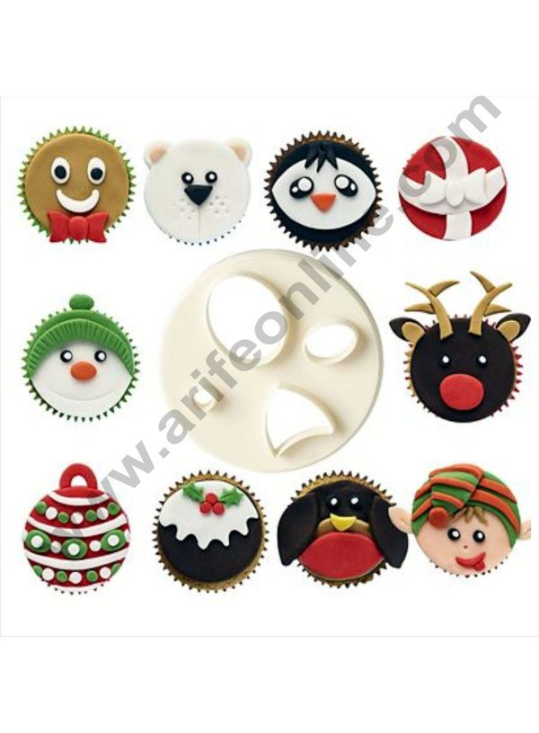 Cake Decor 1 Pc Mix Match Face Plastic Fondant Cutter Gumpaste Cutter 1