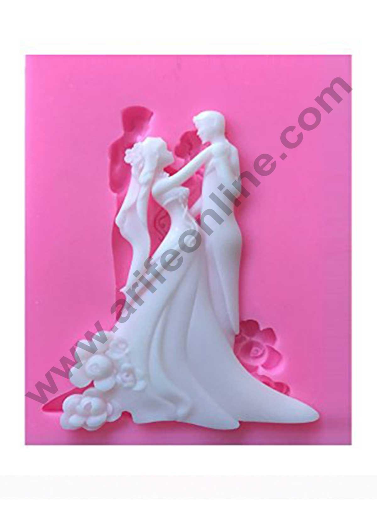 Wedding Bride Groom Silicone Fondant Mold Chocolate Candy Cake Decoration Mould