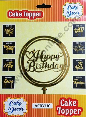Cake Decor Mirror Shimmer Shining  Acrylic Cake Topper Happy Birthday