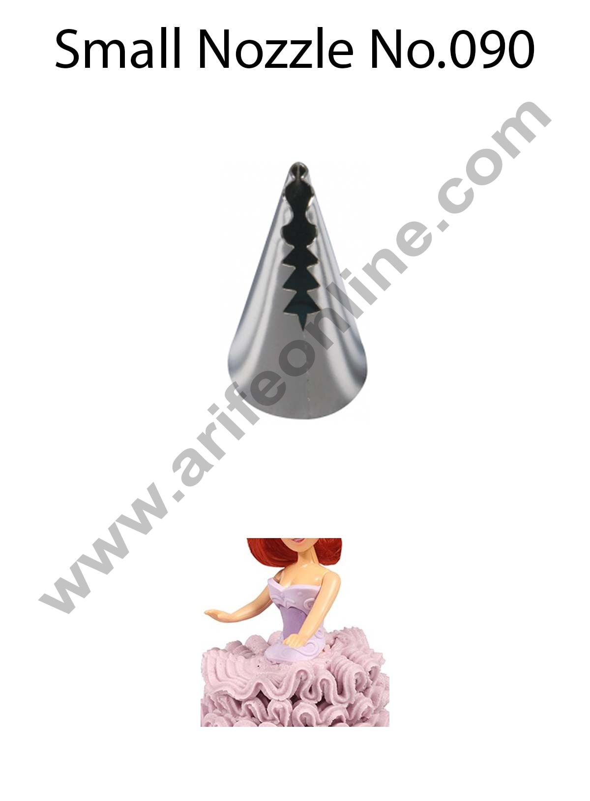 Cake Decor Small Nozzle - No. 090 Small Ruffle Frill Piping Nozzle