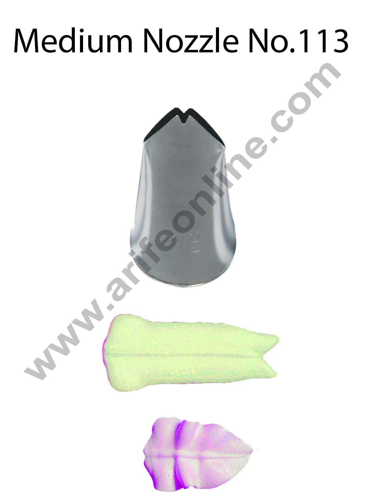 Cake Decor Medium Nozzle - No. 113 Leaf Piping Nozzle