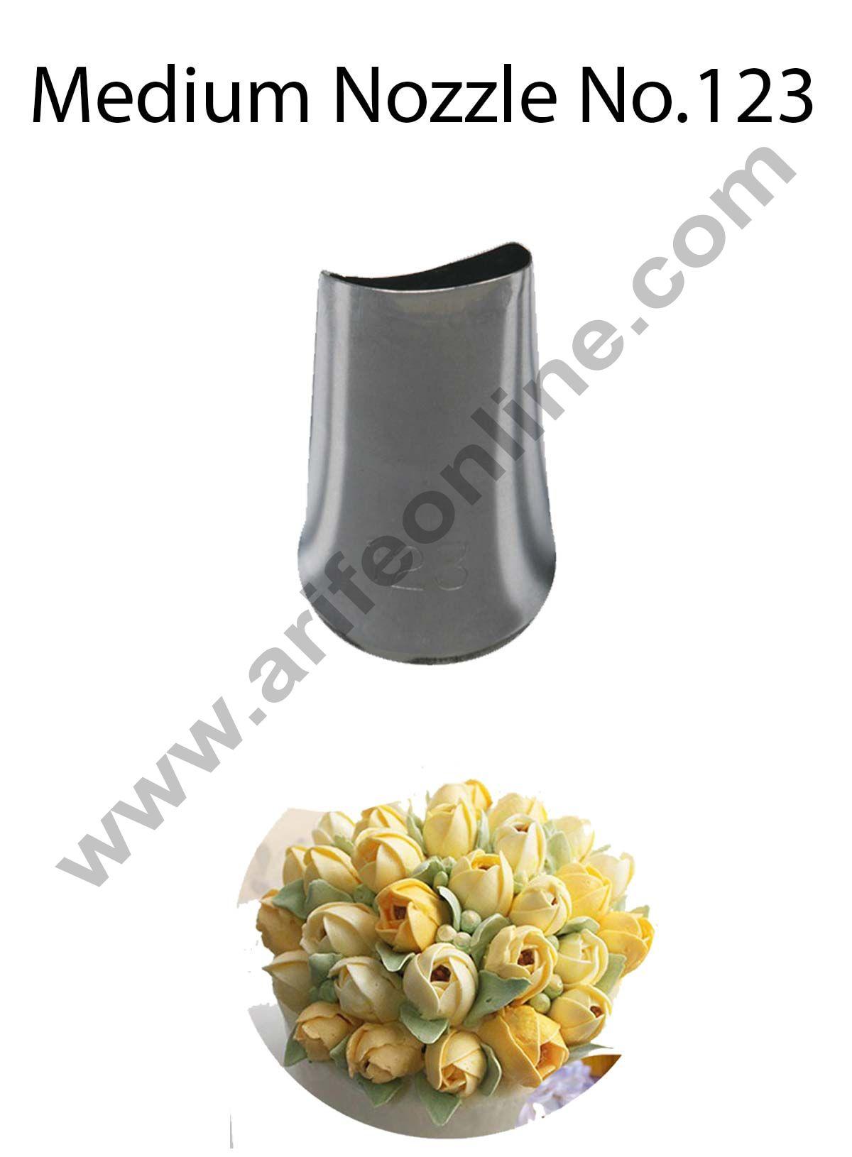 Cake Decor Medium Nozzle - No. 123 Petal Piping Nozzle