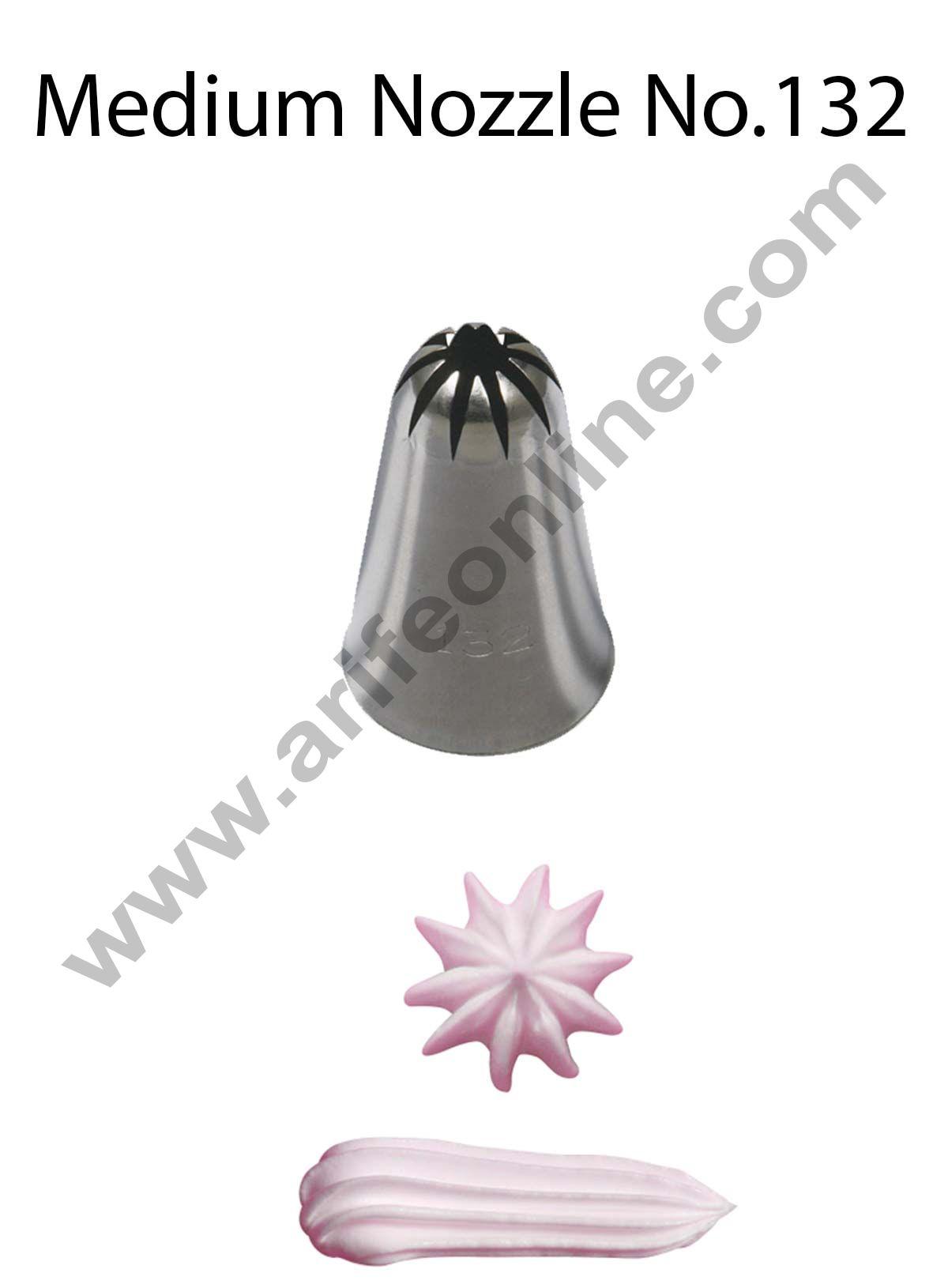 Cake Decor Medium Nozzle - No. 132 Closed Star Piping Nozzle