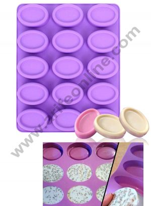 15 Cavity Silicone Oval Soap Mould SBSM-412