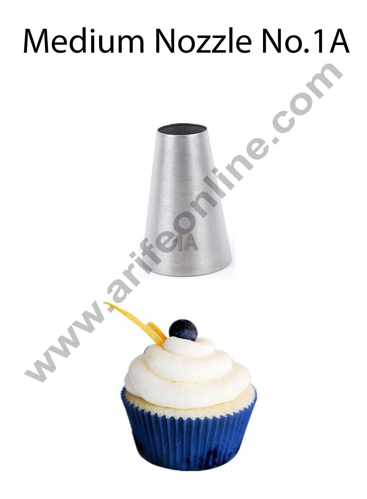 Cake Decor Medium Nozzle - No. 1A Round Piping Nozzle