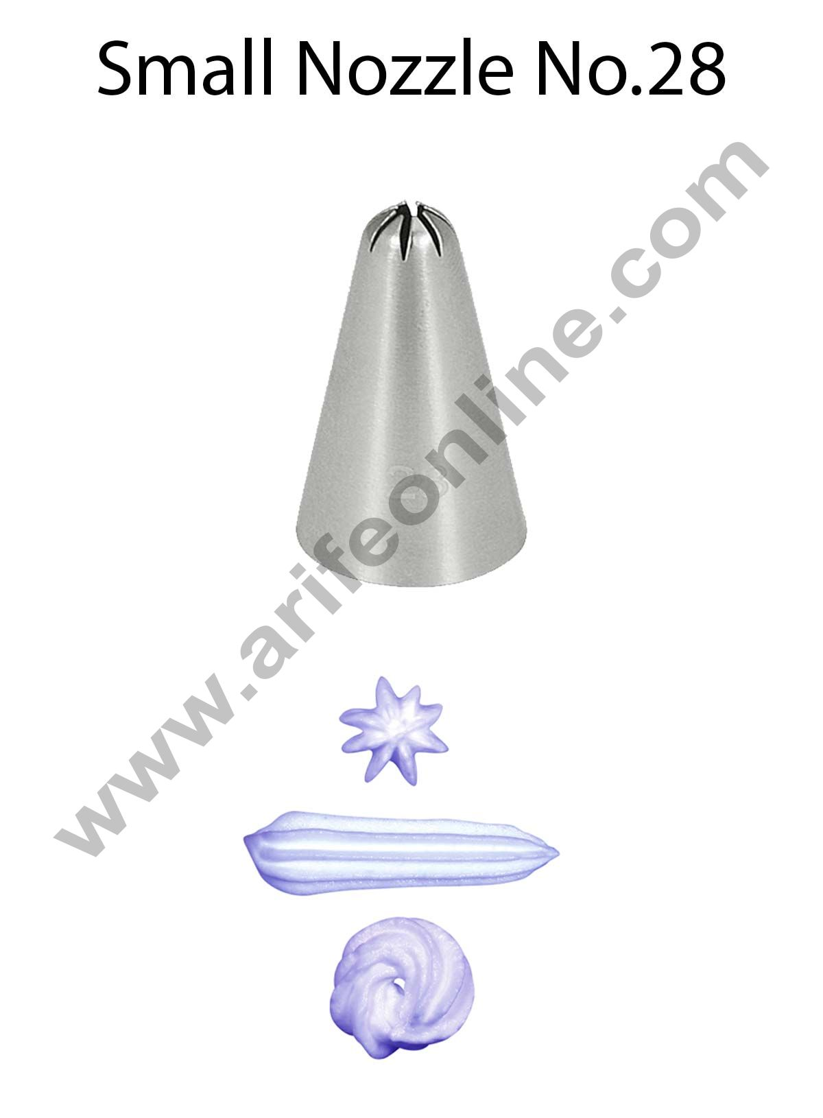 Cake Decor Small Nozzle - No. 28 Closed Star Piping Nozzle
