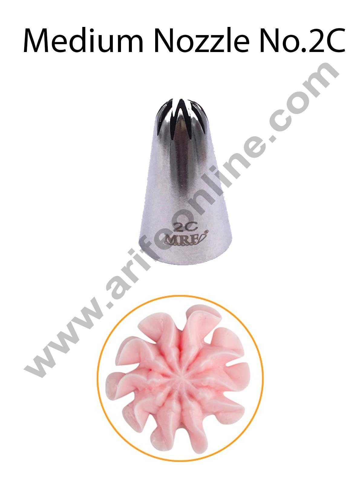 Cake Decor Medium Nozzle - No. 2D Closed Star Piping Nozzle