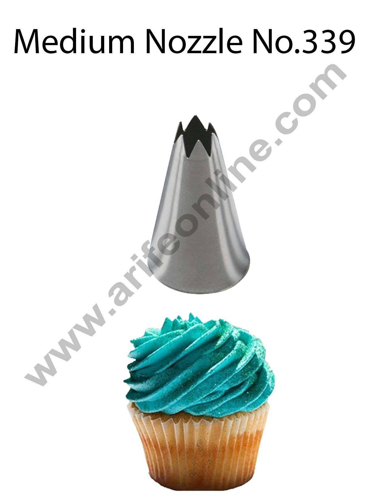 Cake Decor Medium Nozzle - No. 339 Open Star Piping Nozzle