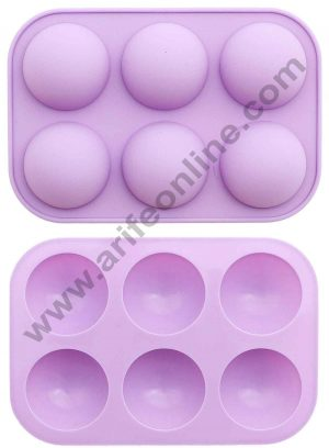 6 cavity Half Sphere Ball Shape Muffin Cupcake Mould
