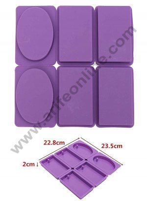 6 cavity rectangular Oval Shape mould SBSM-375