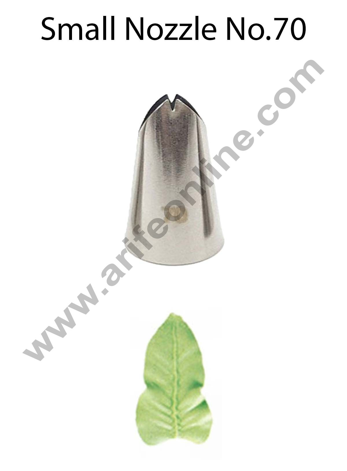 Cake Decor Small Nozzle - No. 70 Leaf Piping Nozzle