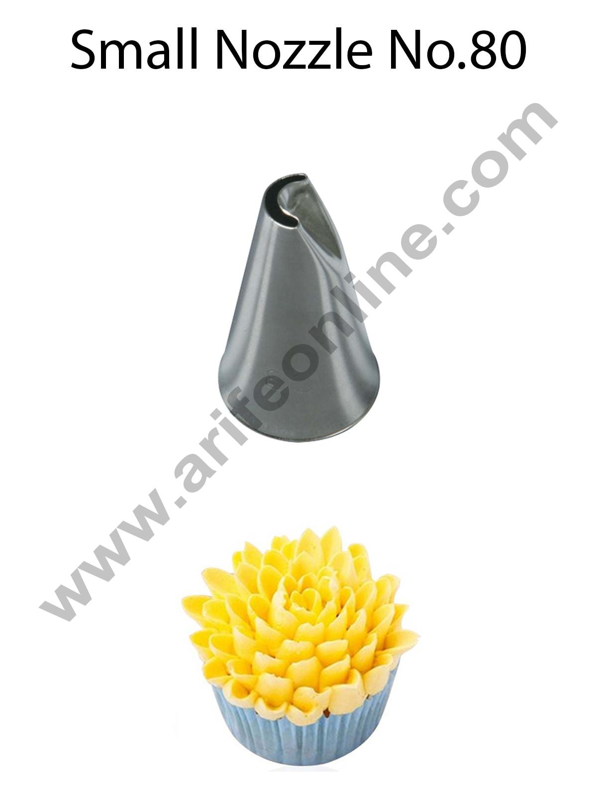 Cake Decor Small Nozzle - No. 80 Specialty Piping Nozzle