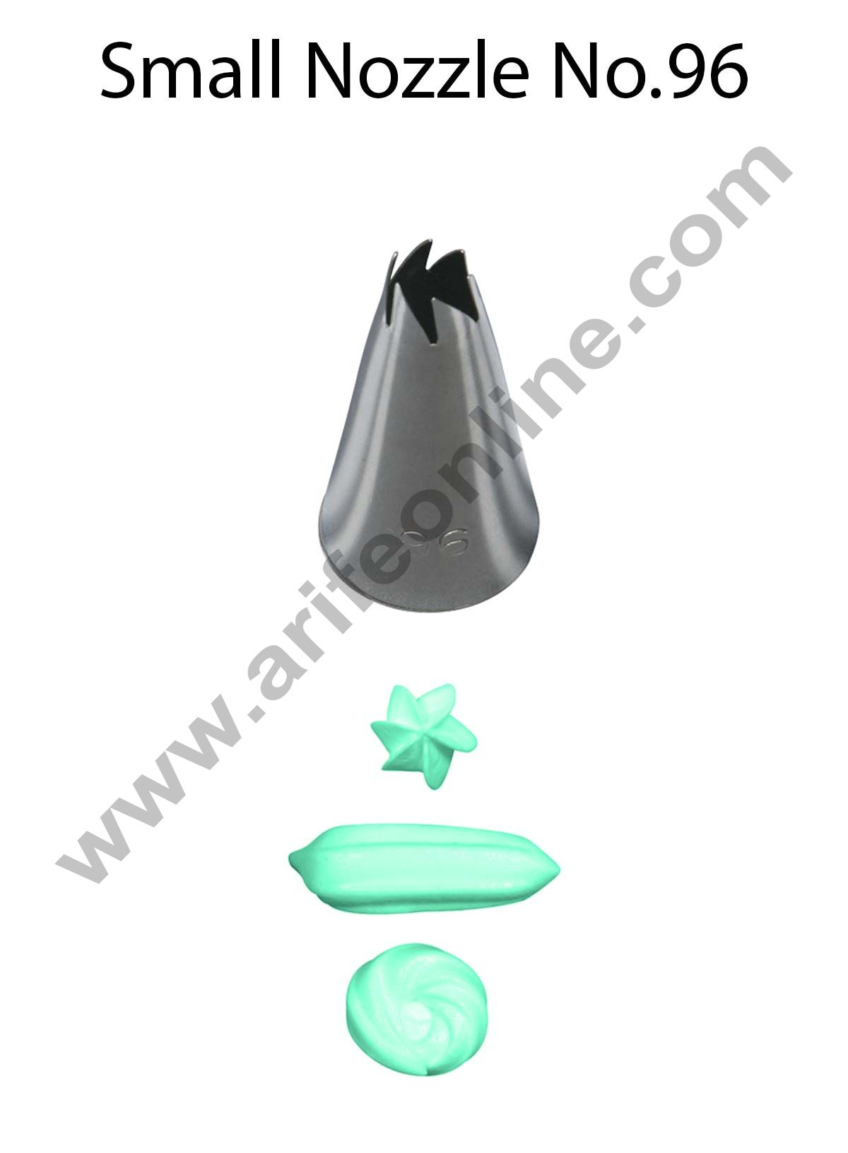 Cake Decor Small Nozzle - No. 96 Drop Flower Piping Nozzle
