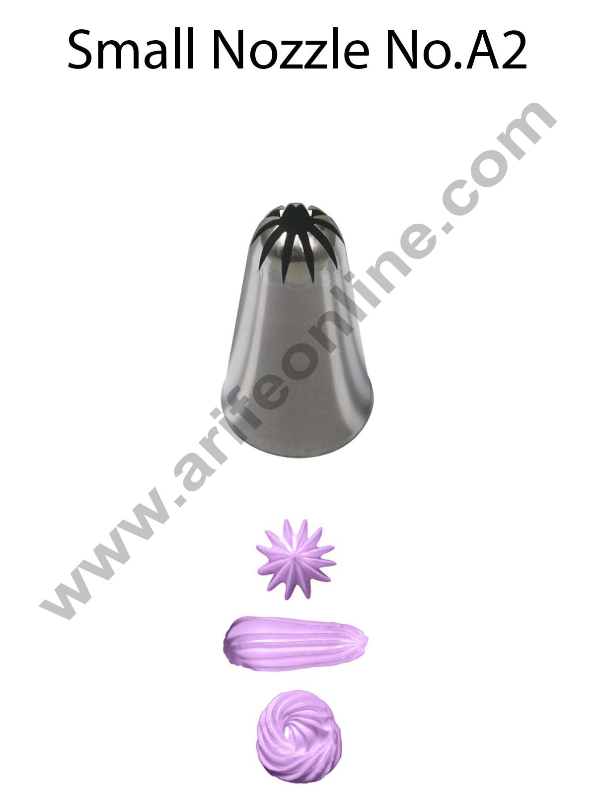 Cake Decor Small Nozzle - No. A2 Closed Star Piping Nozzle