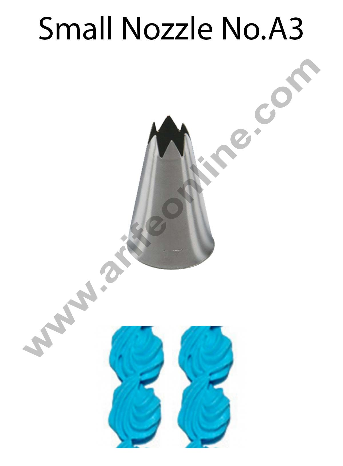Cake Decor Small Nozzle - No. A3 Open Star Piping Nozzle