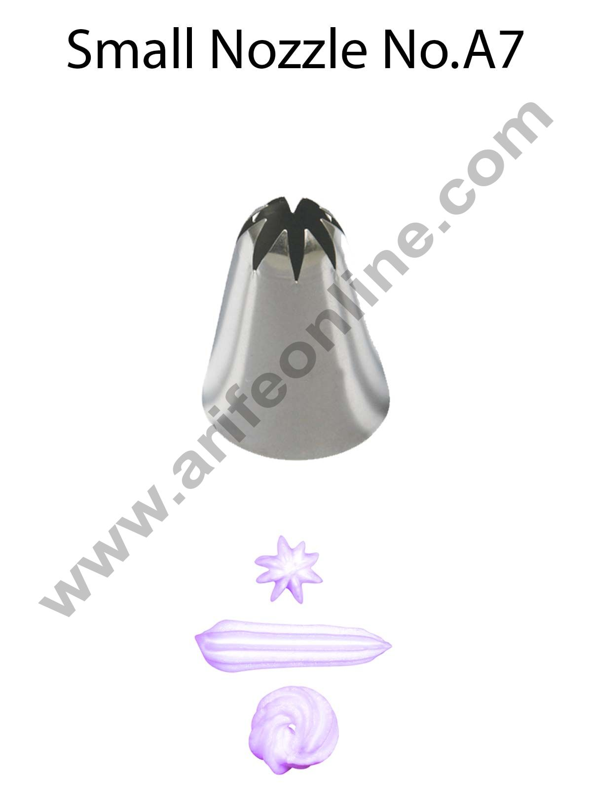 Cake Decor Small Nozzle - No. A7 Closed Star Piping Nozzle