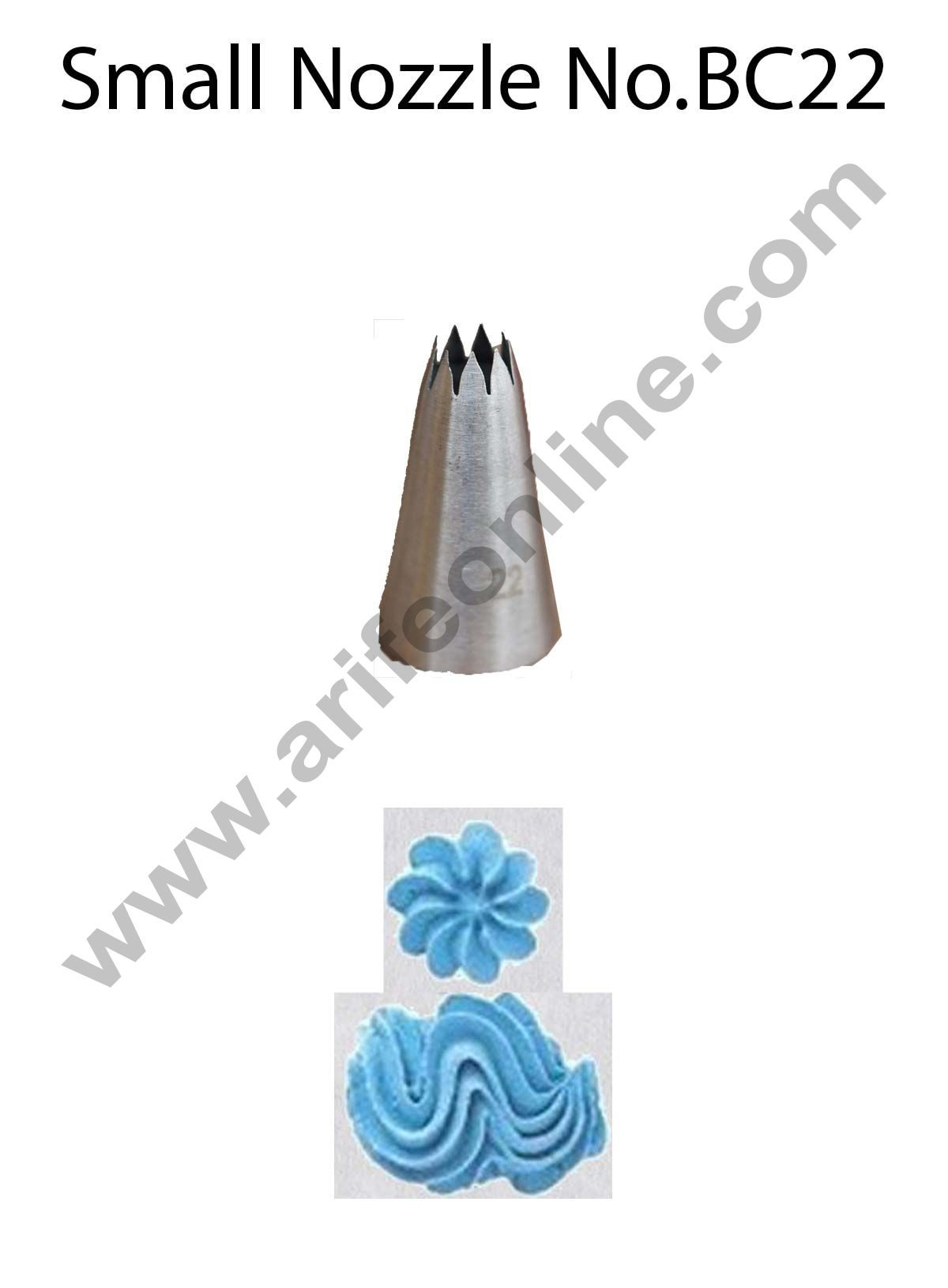 Cake Decor Small Nozzle - No. BC22 Open Star Piping Nozzle