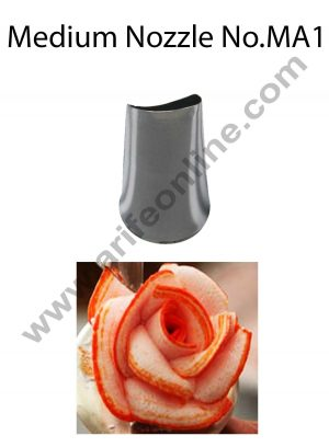 Cake Decor Medium Nozzle - No. MA1 Petal Piping Nozzle