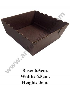 Square Brown Paper Cup Cake Mould 10284