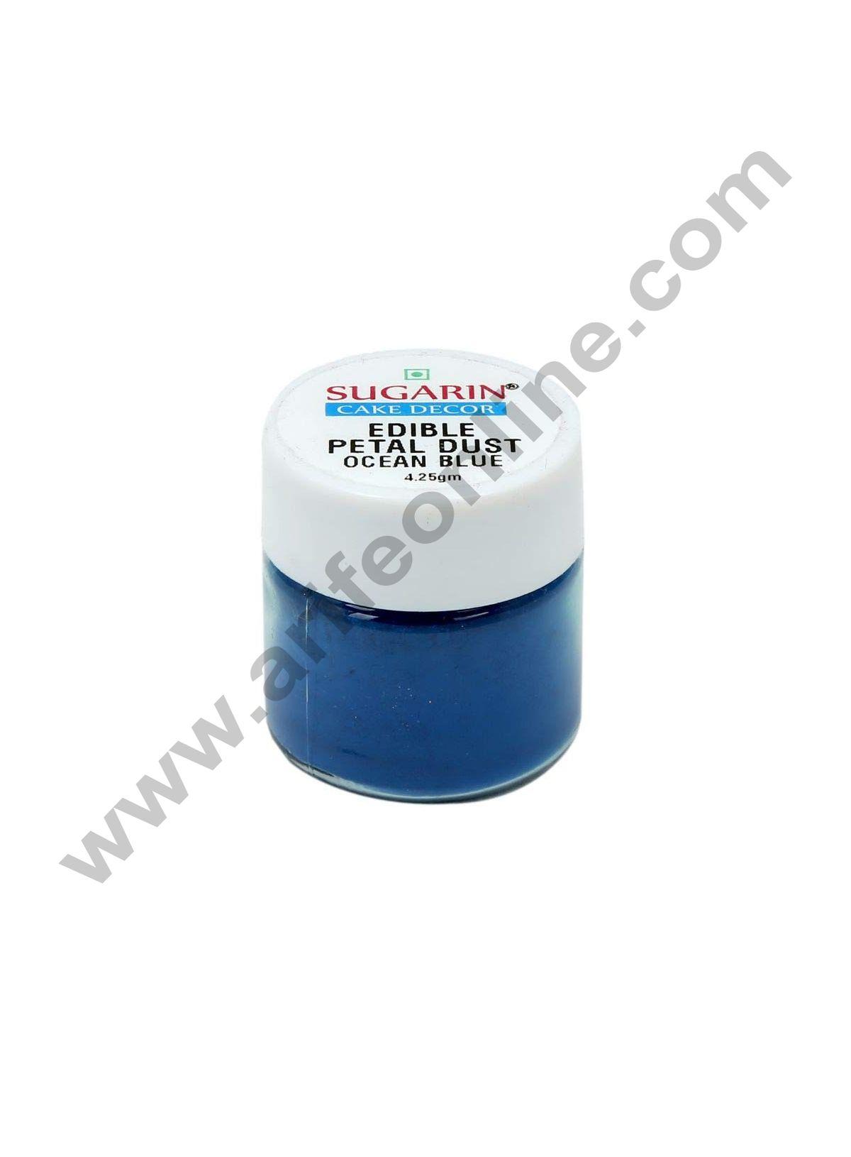 Sugarin Edible Petal Dust, Ocean Blue, 4.25gm