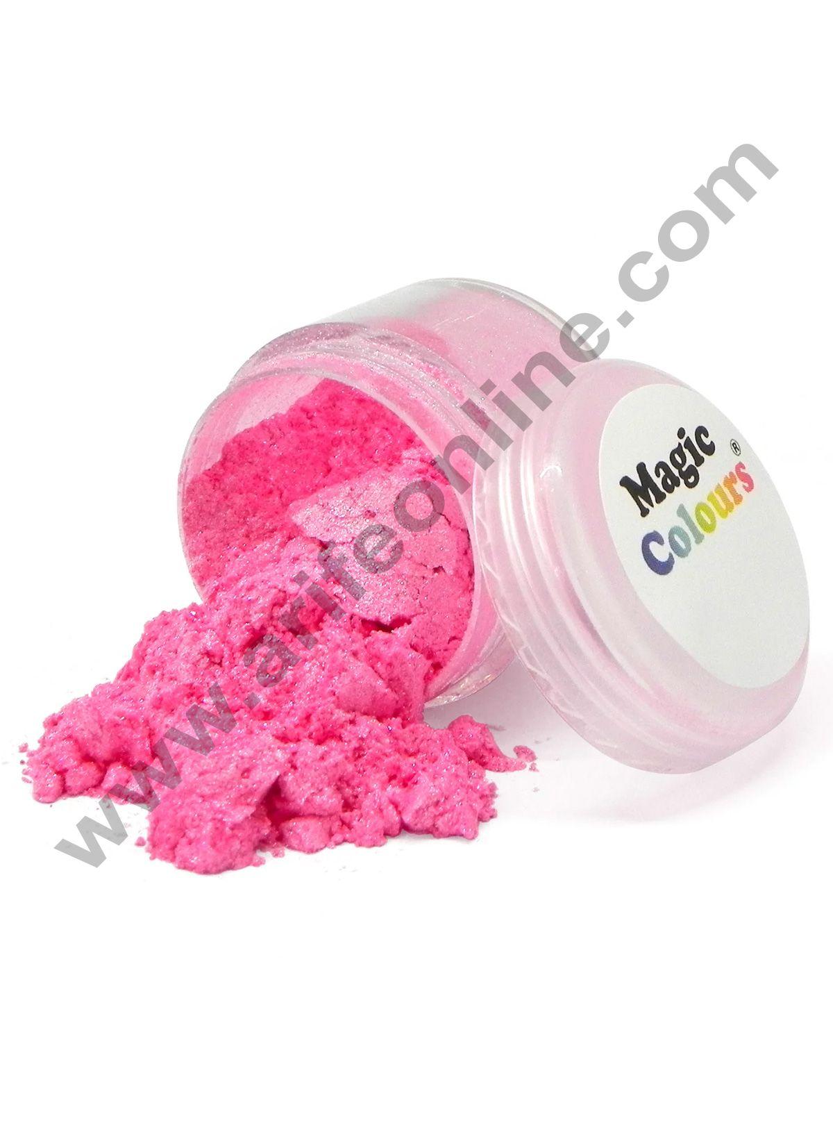 Magic Colours™ Edible Lustre Dust - Pink Sparkle (8 ml)