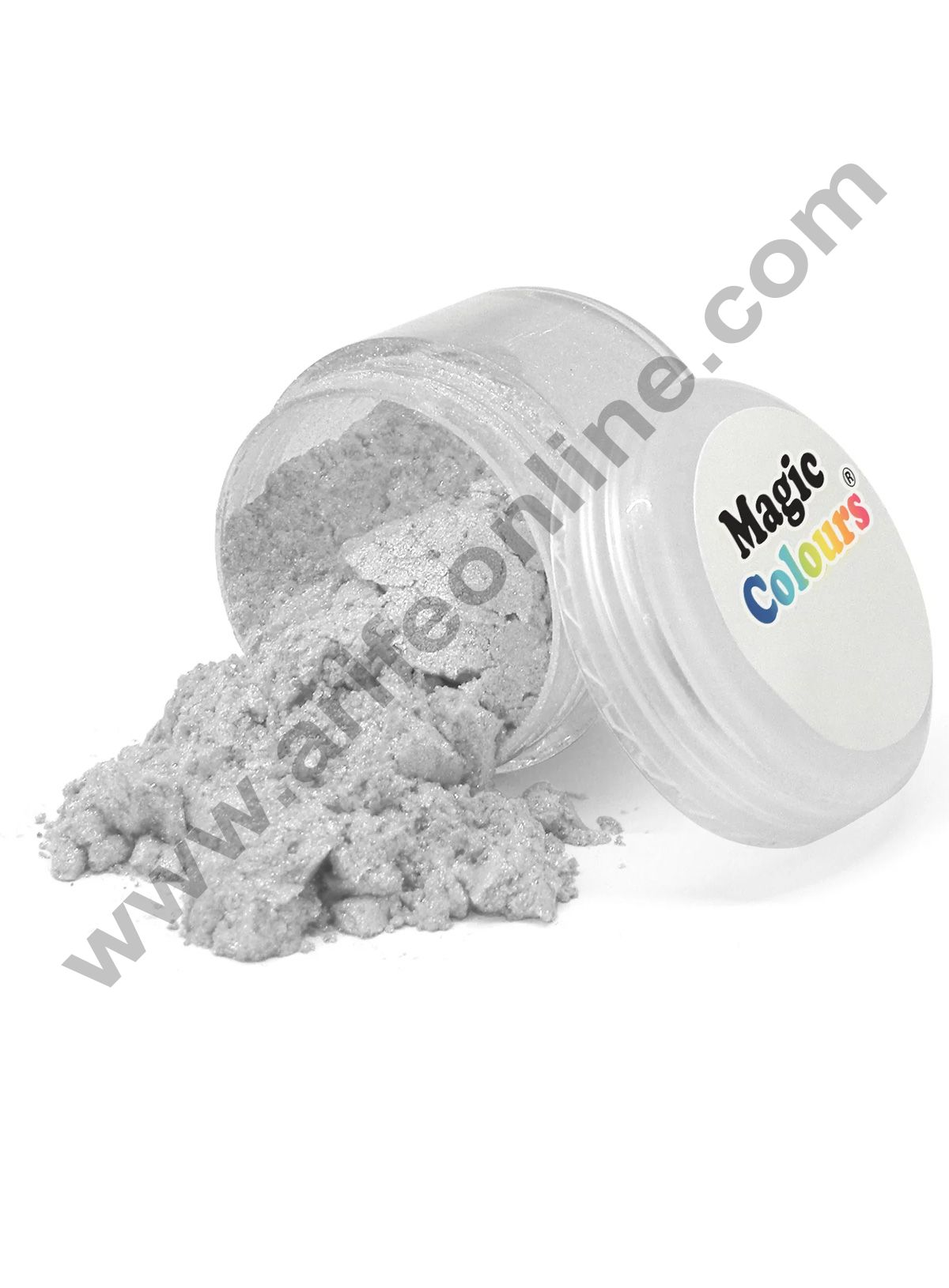 Magic Colours™ Edible Lustre Dust - Pure Silver (8 ml)
