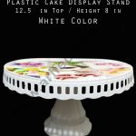 Plastic cake display stand