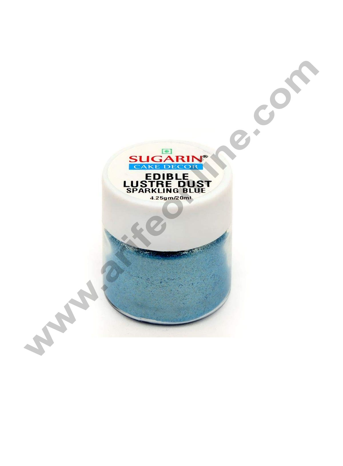 Sugarin Edible Lustre Dust,Sparkling Blue 4.25gm