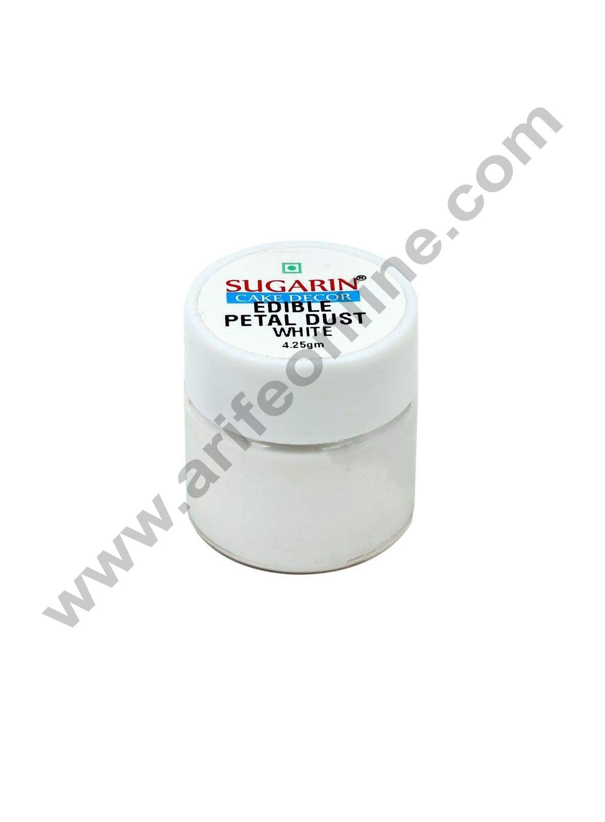 Sugarin Edible Petal Dust, White, 4.25gm