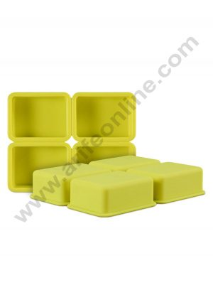 4 Cavity Rectangle Soap Silicon Mould