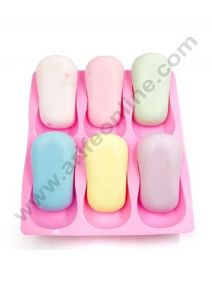 Cake Decor Silicon 6 Cavity Oval Soap Mould