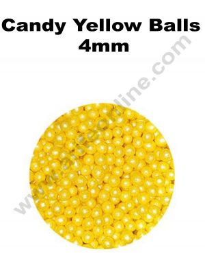 Candy Yellow Balls 4mm