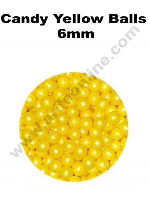 Candy Yellow Balls 6mm