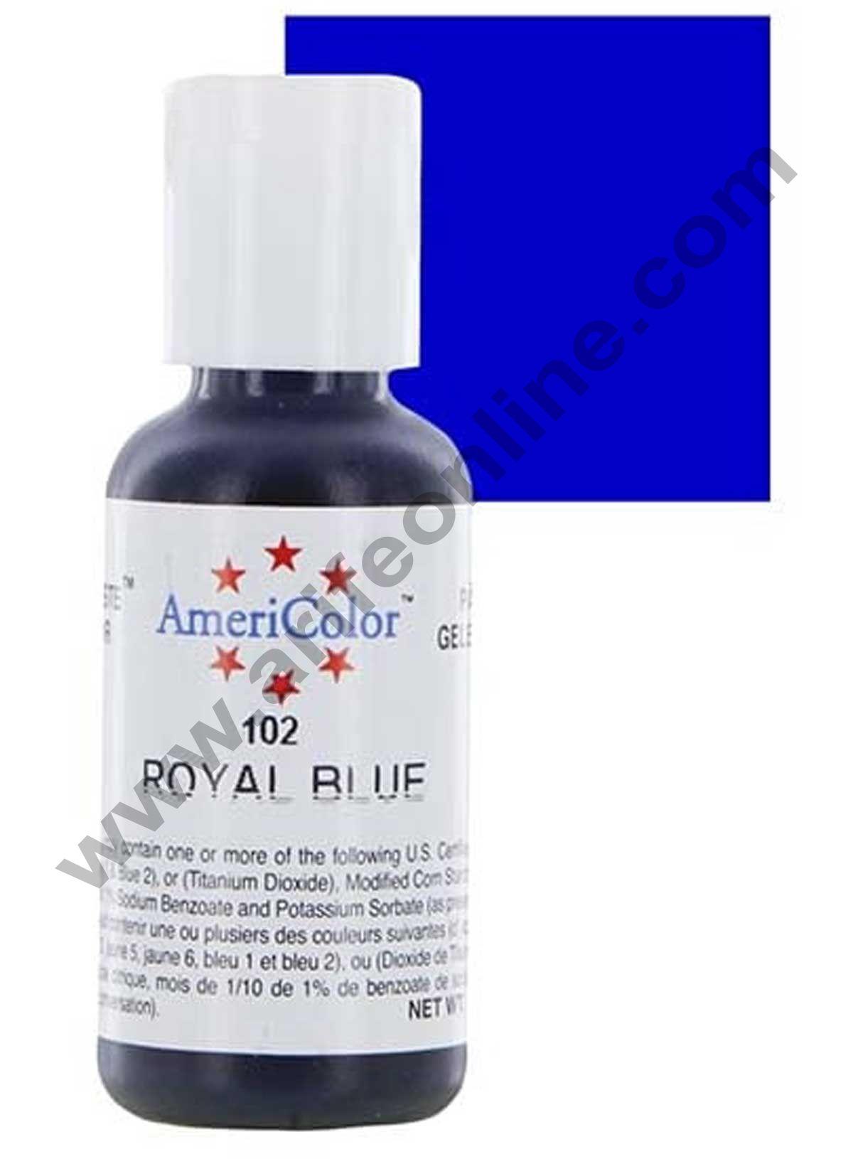 AmeriColor Royal Blue 0.75 oz Soft Gel Paste Food Color (21g)
